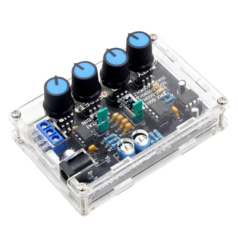 Icl8038 Signal Generator Diy Kit Sine Triangle Square Sawtooth Output 5Hz~400Khz Adjustable Frequency Amplitude