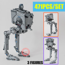 New Starwars Rogue One Imperial AT-ST Walker Fit Star Wars Figures Genuine Model Building Block Brick Toy Gift Kid Boy Birthday цена