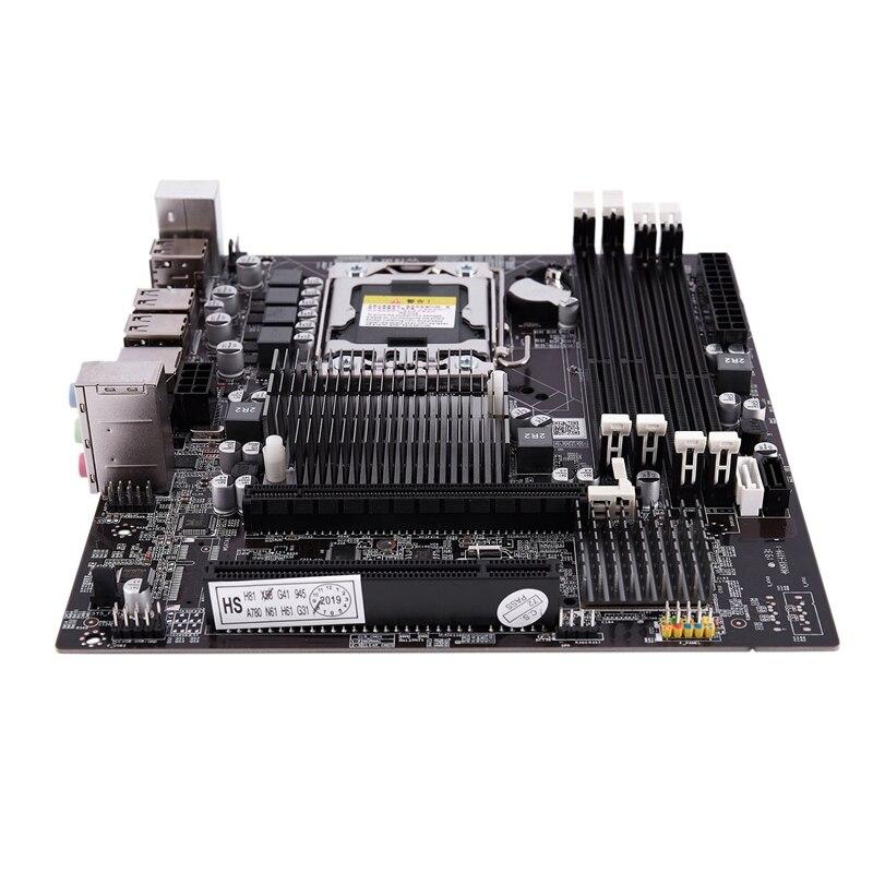 Ppyy novo-x58f lga1366 desktop computador mainboard com sata 3.0/2.0 usb 2.0 ddr3 1600 64g 2 canais placa-mãe para intel