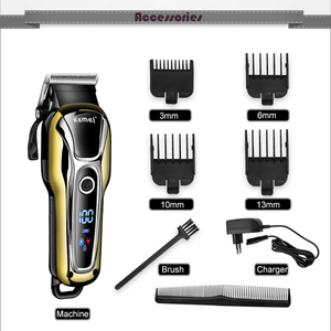 Image 5 - 100 240V kemei ricaricabile capelli trimmer tagliatore di capelli professionale rasatura dei capelli macchina di taglio di capelli barba rasoio elettrico