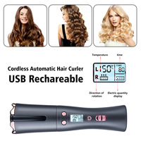 Automatic Hair Crimper USB Cordless Hair Curler Curling Iron Wand Auto Ceramic Hair Waver Professional Hair Styling Tools 2021 5