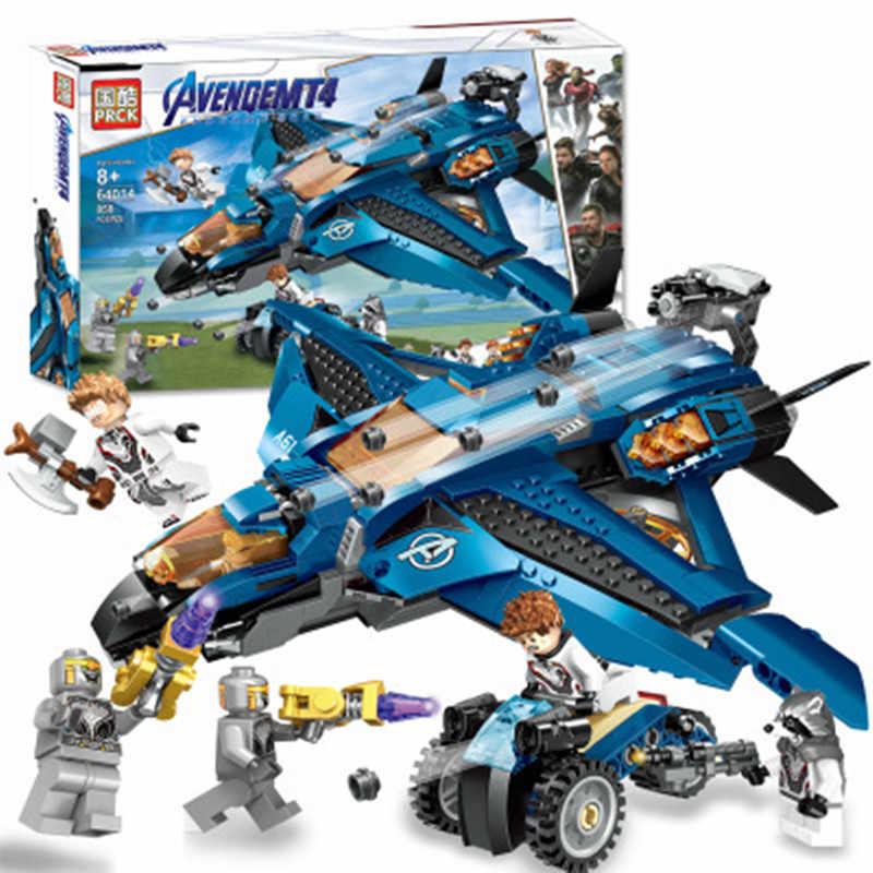 アベンジャーズシリーズビルディングブロックアイアンマンラボベーストール組み立てる thanos さんキャプテン武器フィギュアレンガ子供のおもちゃギフト
