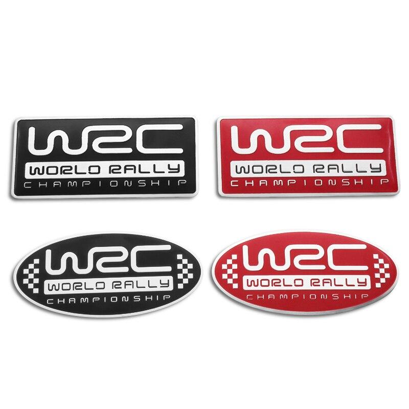 Metal Car Styling Sticker Car Door Tail Decal WRC Emblem Badge For SUBARU LEGACY Forester Outback Rally WRX WRC STI XV Impreza