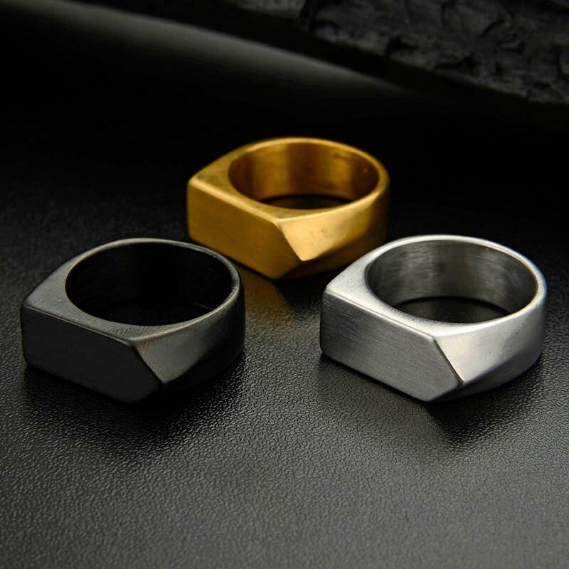 Мужские и женские винтажные кольца, круглые кольца из нержавеющей стали с геометрическим узором, простой перстень
