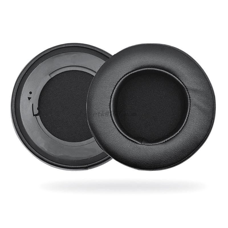 1 Pair Gaming Earphone Cushion Round Shape Foam PU Leather Headset Cushion Replacement Accessories For Razer Kraken 7 1 Pro V2