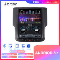 Tesla Android 8.1 DVD player GPS Navigation For Dodge RAM 2014 2015 2016 2017 2018 Car auto stereo multimedia player head uint