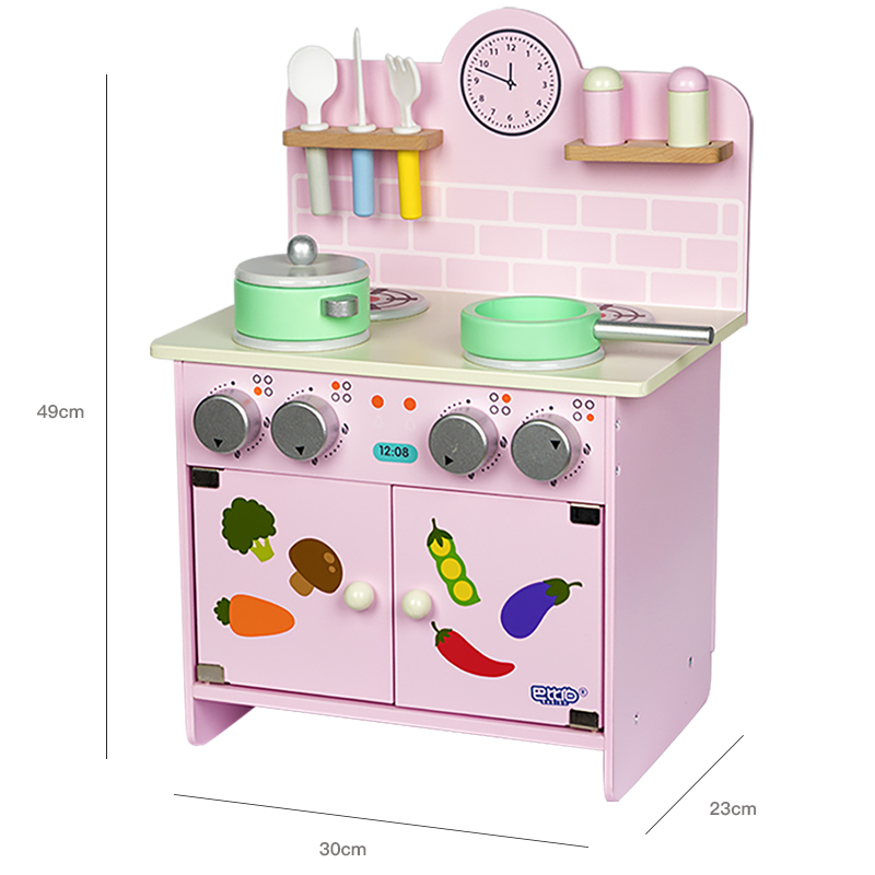 Big Size Wooden Stove Child Funny Classic Pretend Play ...