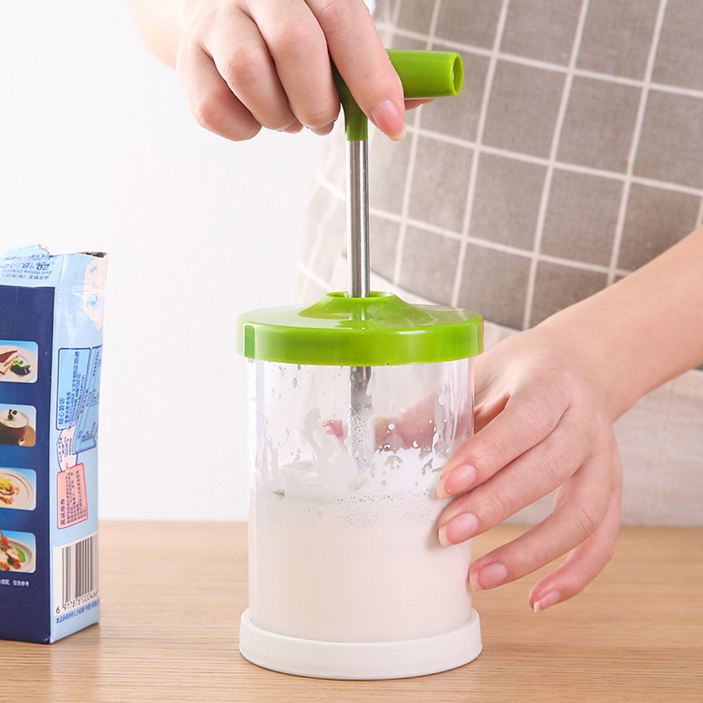 Manual Milk Frother Foam Maker Coffee Milk Double Mesh Milk Creamer Foamer Kitchen Accessories Gadget #0425