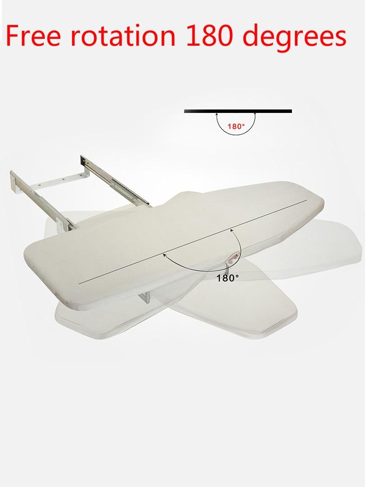 Vestiaire créatif placard caché push-pull pliant planche à repasser tampon grille à repasser dans l'armoire domestique planche à repasser pliante