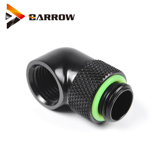 2pcs  Barrow Black White Silver G1/4'' 90 Degree Rotary Fittings Computer Water Cooling Kit Fittings Elbow TWT90-V2.5