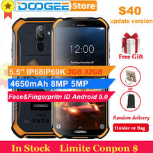Doogee S40 3GB 32GB Android 9.0 Pie Cell Phone IP68 IP69K Waterproof 5.5