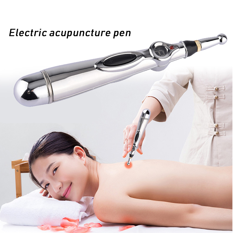 Electronic Acupuncture Pen Meridian Therapy Stimulator Acupoint Trigger Poit Massager Relief Pain Head Back Neck Leg Massager