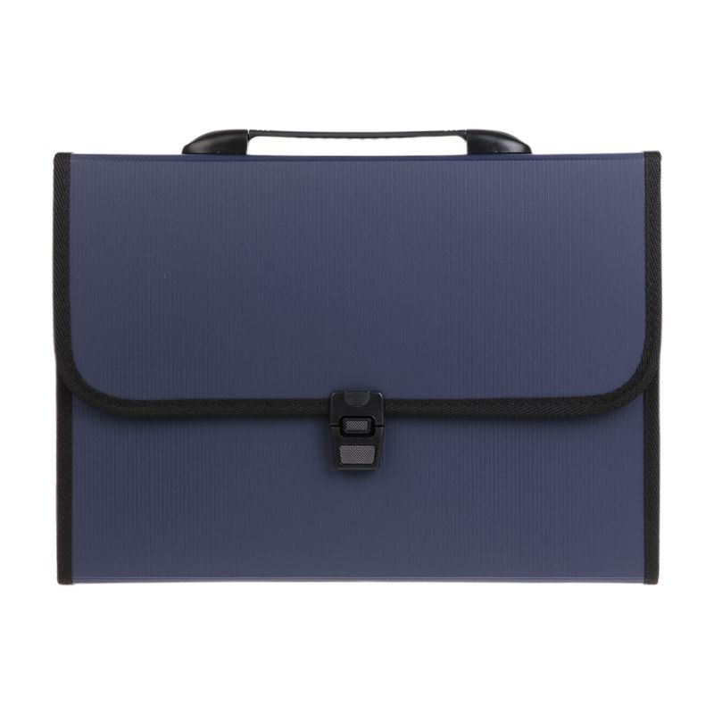 A4 Business Document Storage Expandable File Folder Office Waterproof Briefcase DXAC