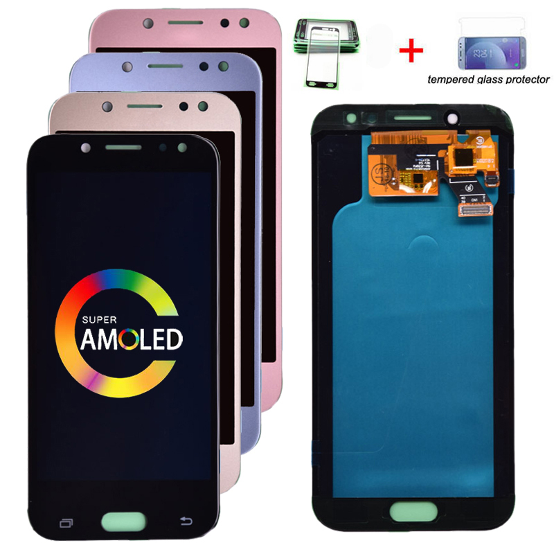 100% super amoled lcd para samsung galaxy j5 2017 j530 j530f amoled display lcd tela de toque digitador assembléia frete grátis