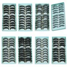 10 คู่/เซ็ตแต่งหน้า 3D ขนตาปลอม Gorgeous Soft Long CROSS Eye Lashes Fake Lashes EXTENSION แต่งหน้าเครื่องมือความงาม