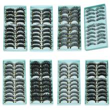 10 Pairs/Set Makeup 3D False Eyelashes Gorgeous Soft Long Cross Eye Lashes  Fake Lashes Extension Make up Beauty Tools