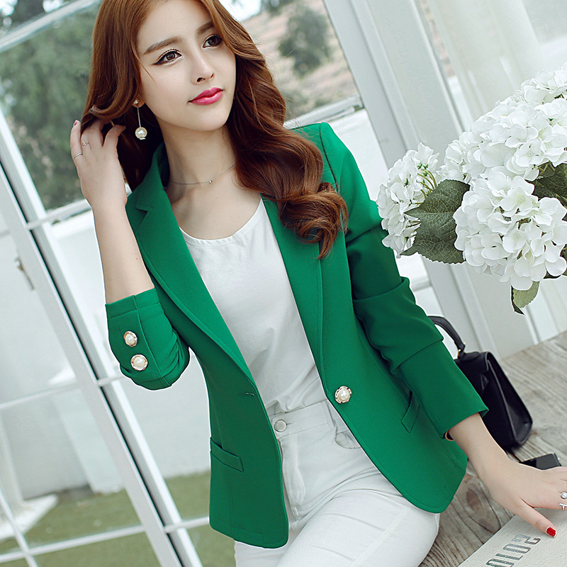 Women Long Sleeve Formal Blazer Jackets Cardigan Office Lady Work Notched Slim Fit Suit Business Autumn New Outerwear Tops S-XXL