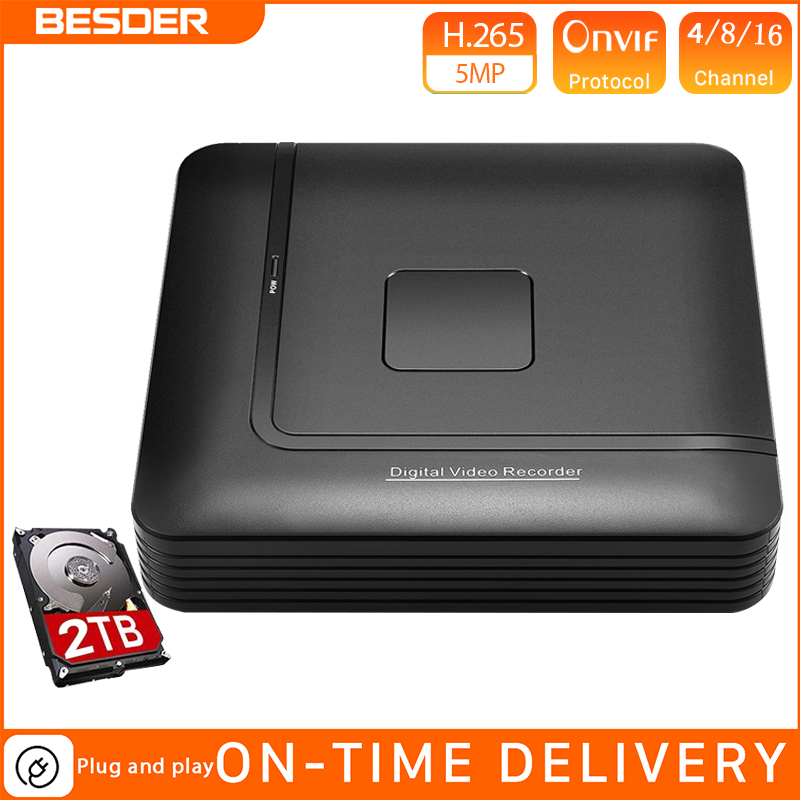 BESDER Max 5MP H.265 Output <font><b>CCTV</b></font> <font><b>NVR</b></font> 16CH 5MP / 8CH 4MP / <font><b>4CH</b></font> 5MP Security Video Recorder <font><b>CCTV</b></font> <font><b>NVR</b></font> Motion Detect ONVIF P2P XMEye image