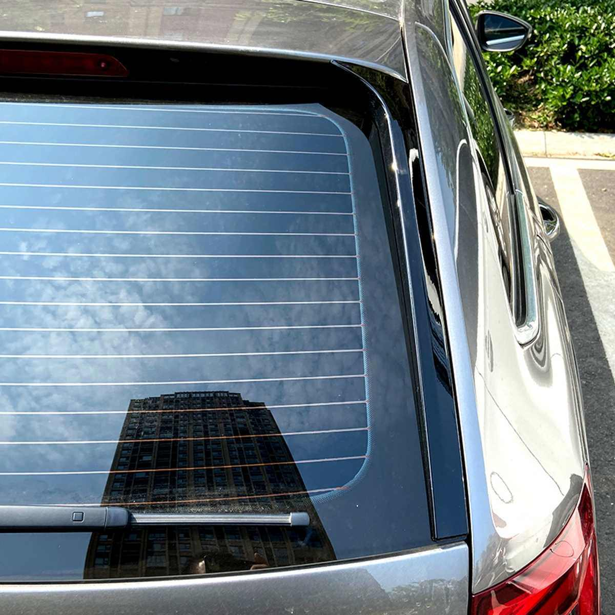 Gloss Hitam Belakang Sisi Spoiler Wing untuk Skoda Octavia Estate 2014-2019 Mobil-Styling Auto Jendela Belakang cermin Ekor Accessorie