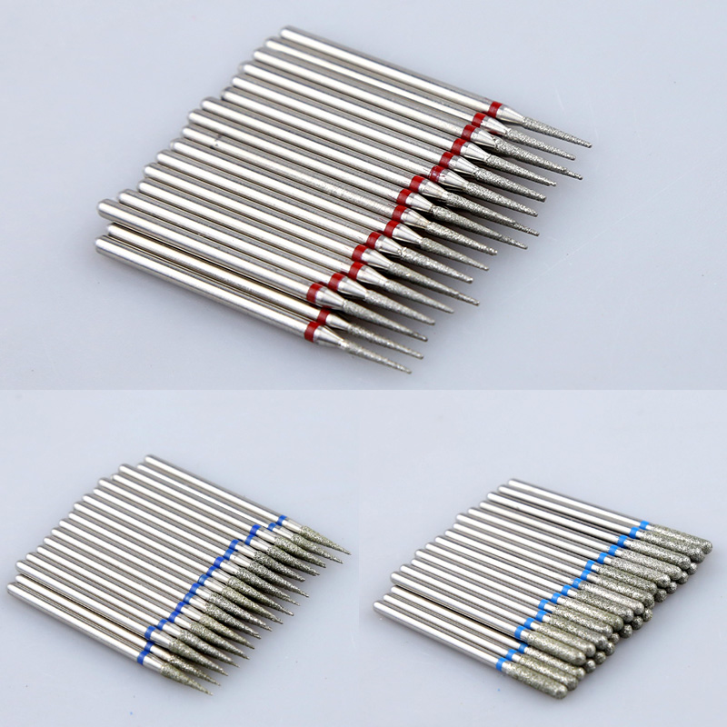 10pcs Diamond Nail Drill Bit Set Milling Cutters Nail Manicure Electric Cutter Bits Cuticle Polishing Tools Nail Accessories