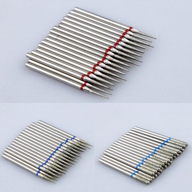 10pcs Diamond Nail Drill Bit Set Milling Cutters Nail Manicure Electric Cutter Bits Cuticle Polishing Tools Nail Accessories