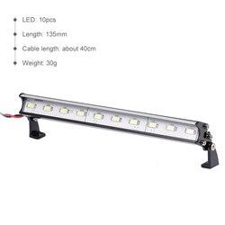 135mm Roof Headlights 10 LED Lights for Traxxas Slash 4X4 TRX4 Nitro Slash X-Maxx Axial Score RC Truck RC Off-Road Dome