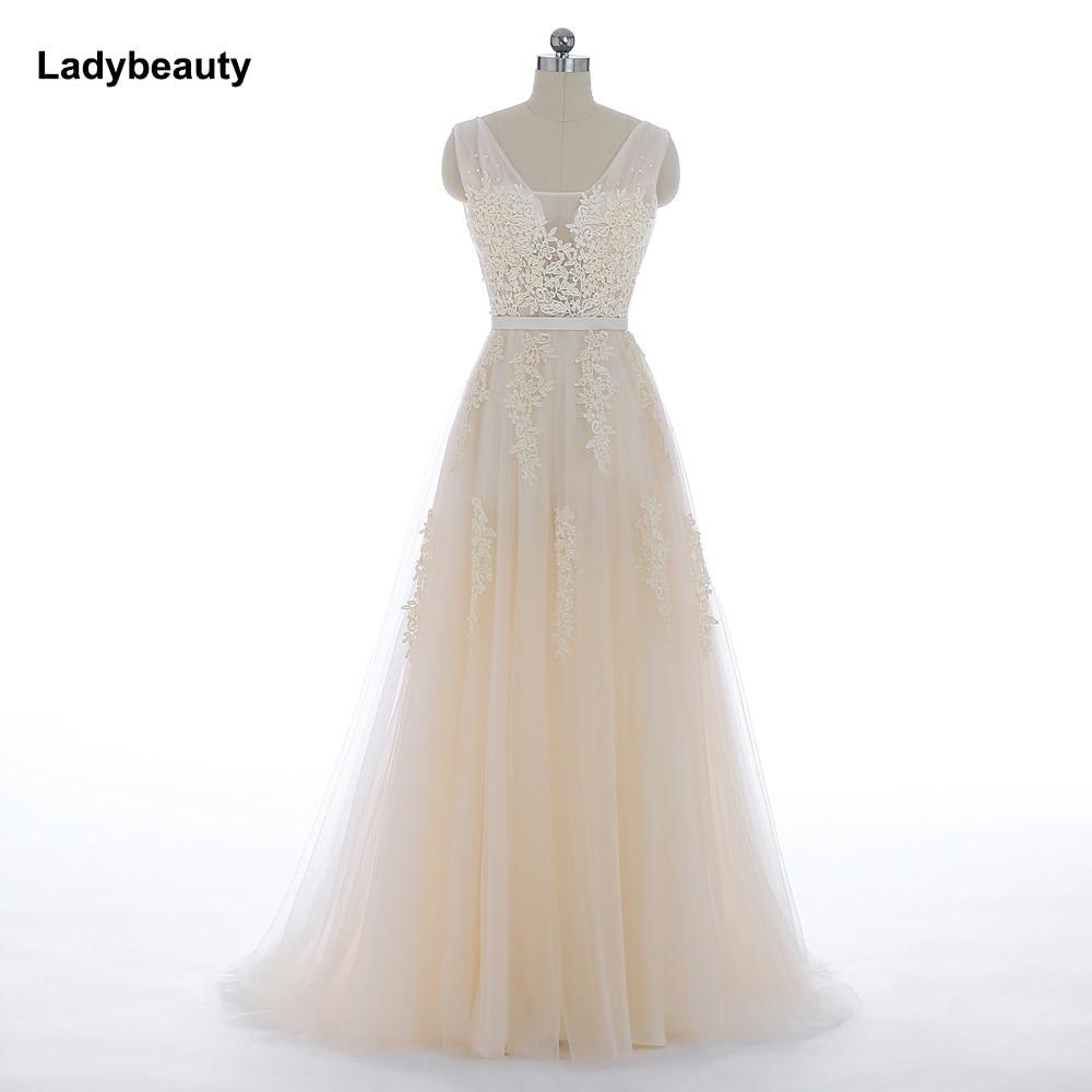 Vestido De Festa New Coming Robe De Soiree V Neck With Lace Appliques Long Tulle Party Evening Dresses 2019 Pink Navy Blue Gray