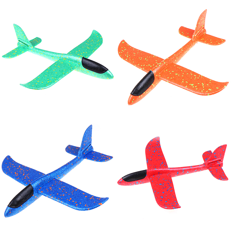 1 pc EPP Foam Hand Throw Airplane Outdoor Launch Glider Plane Kids Gift Toy 37CM Interesting Toys(China)