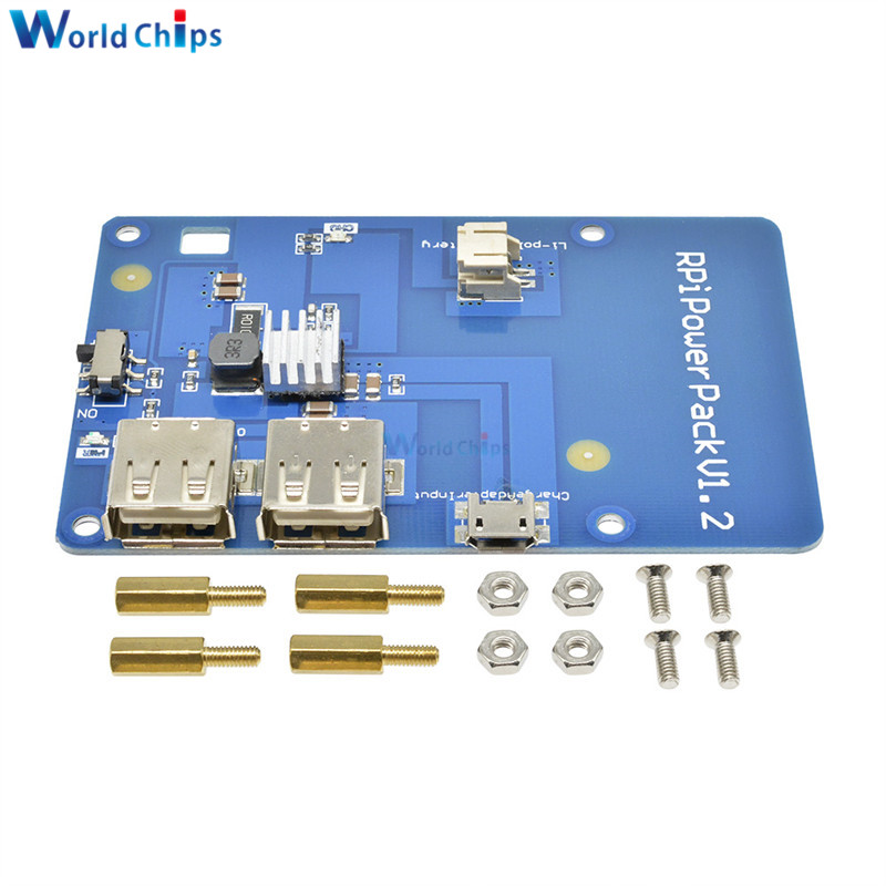 Lithium Battery Expansion Board PowerPack With Dual USB Output for Raspberry Pi3