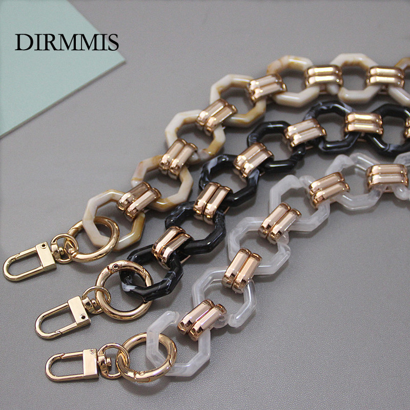 New Fashion Woman Brand Handbag Accessory Chain Detachable Replacement Shoulder Strap Women DIY Shoulder Clutch Resin Chains