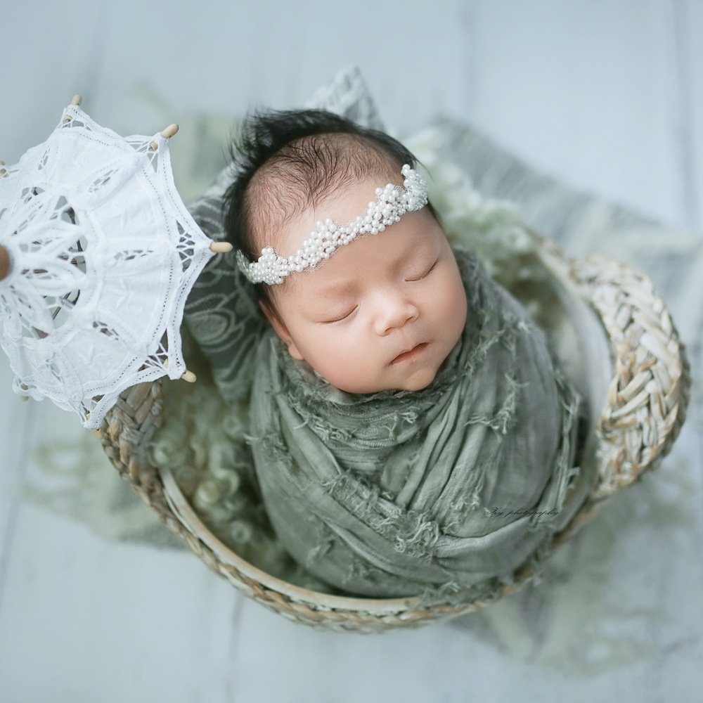 Newborn Photograph Props Cotton Wrap Retro Style Baby Decorative Blanket Newborn Photo Shoot For Infant Photography Clothing