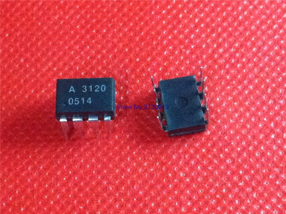 10pcs/lot HCPL3120 DIP8 HCPL-3120 DIP A3120 In Stock