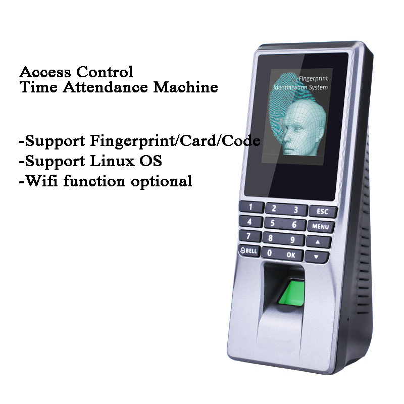 Fingerprint Code ID Card Employee Acess Control Time Attendance DC 12V USB WIFI TCP/IP Linux Doorbell Alarm Door/Gate Opener