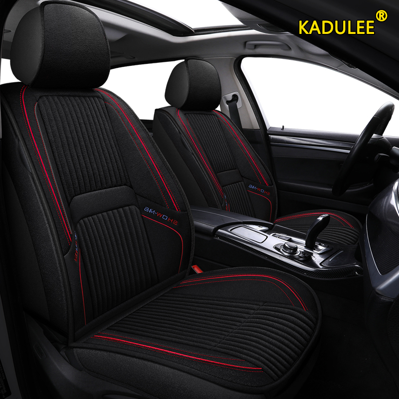 KADULEE flax car seat covers for bmw e90 e46 e36 520 525 320 x3 f25 x5 e70 f10 f20 f15 f11 x1 x6 x4 e36 x2 all model seat cover image