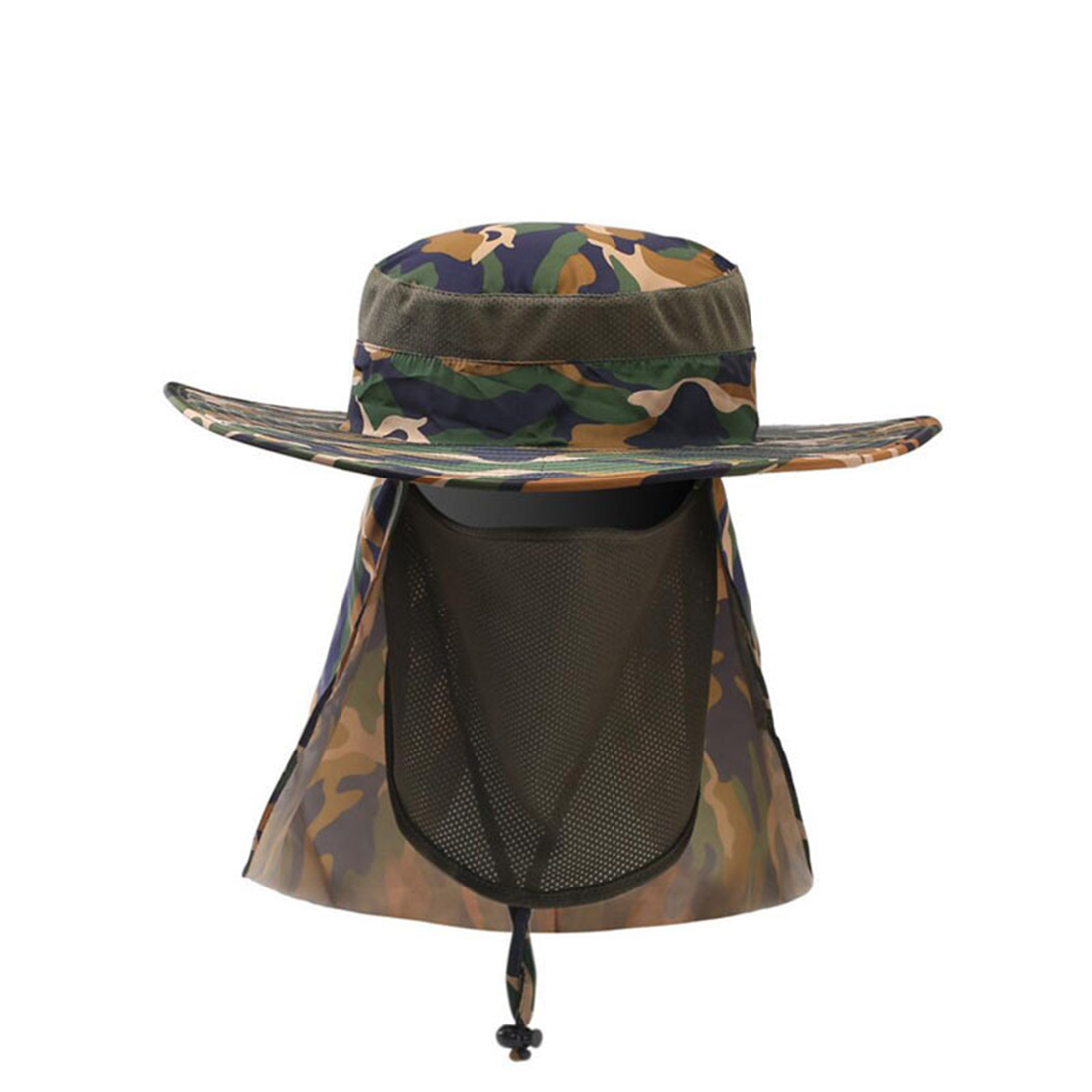Comfortable Fishing Hat Mesh fabric Outdoor Supplies Wide Curved brim Camo|Fishing Caps| |  - title=