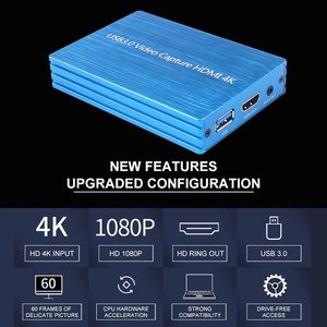 Image 2 - 4K HDMI To USB 3.0 Video Capture Card Dongle 1080P 60fps HD Video Recorder Grabber For OBS Capturing Game Game Capture Card Live