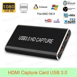 Image 1 - HDMI Scheda di Acquisizione USB3.0 1080P HDMI a USBC TIPO C Video Converter per Mac Finestre Linux Os X Gioco di registrazione