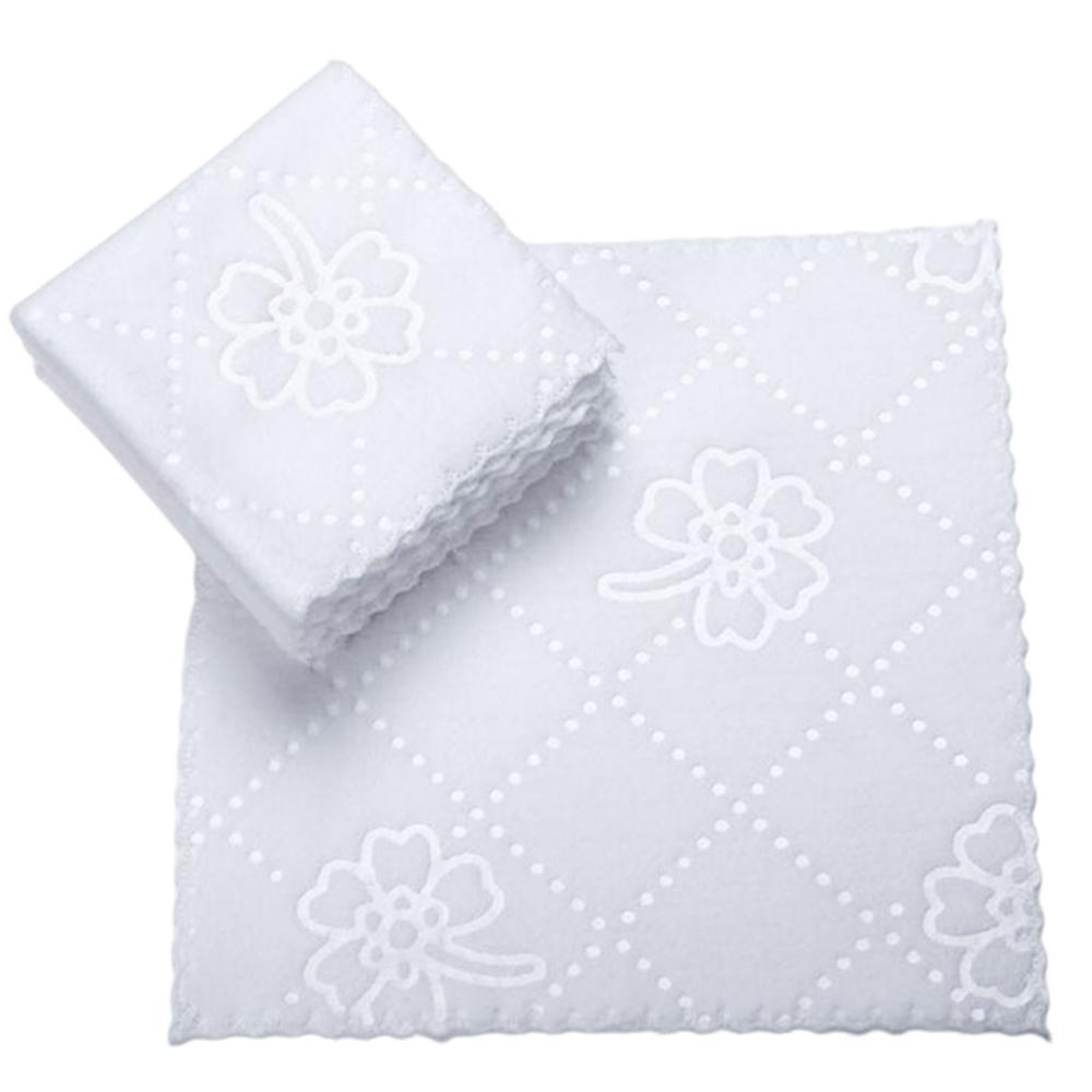 Ultrasonic Cut Edge Lace Square White Napkin Wmbossed Fiber Wipes Handkerchief Disposable Supplies for Hotel Restaurant|Paper Napkins & Serviettes|   - AliExpress