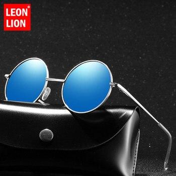 LeonLion Luxury Round Sunglasses Men Polarized Sun Glasses For Photochromic Retro 2019 Gafas De Sol Hombre