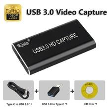 USB 3,0 видеозахвата HDMI к USB 3,0 1080P HD видео USB карта захвата для ПК PS4 игра Live Stream Windows Linux Os