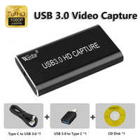 USB 3.0 Video Capture HDMI to USB 3.0 1080P HD Video USB Capture Card for PC PS4 Game Live Stream Windows Linux Os Free Shipping