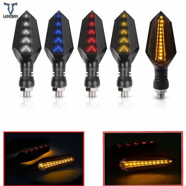 Evrensel motosiklet dönüş sinyalleri led lambalar işıklar lamba KAWASAKI CONCOURS 14 Vulcan 1700 Classic Z800 Z1000 Ninja 300 Z250
