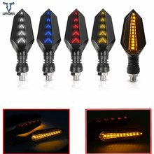 אוניברסלי אופנוע להפוך אותות led מנורות אורות מנורת עבור KAWASAKI CONCOURS 14 Vulcan 1700 קלאסי Z800 Z1000 Ninja 300 Z250