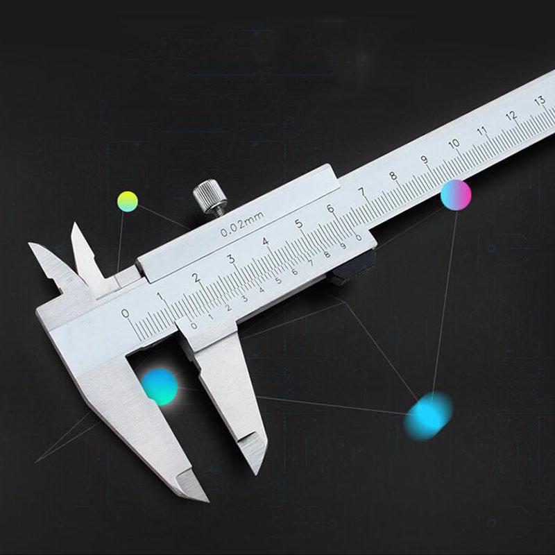 Pied à coulisse mécanique 0-300mm Double griffe externe à pied à coulisse échelle de mesure micromètre Instrument de mesure