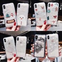 Glitter Liquid Christmas Phone Case For iphone
