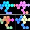 USB DIY RF Remote Control Sound Music Sync Sensitive Led Wall Lamp Hexagon Modular Honeycomb Panel Bedroom Helios Wall Light