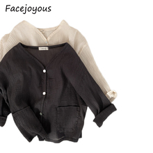 0-24M Baby Girls Knitting Outerwear amp Coats New 2020 Girls Baby Sweater Cardigan Linen Sweater Baby Air Conditioning Sweater cheap Fashion COTTON lrj0516018 Fits true to size take your normal size Worsted Unisex Solid O-Neck Full REGULAR
