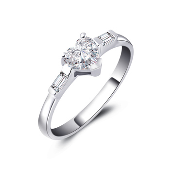 Genuine Heart Shaped Diamond Ring