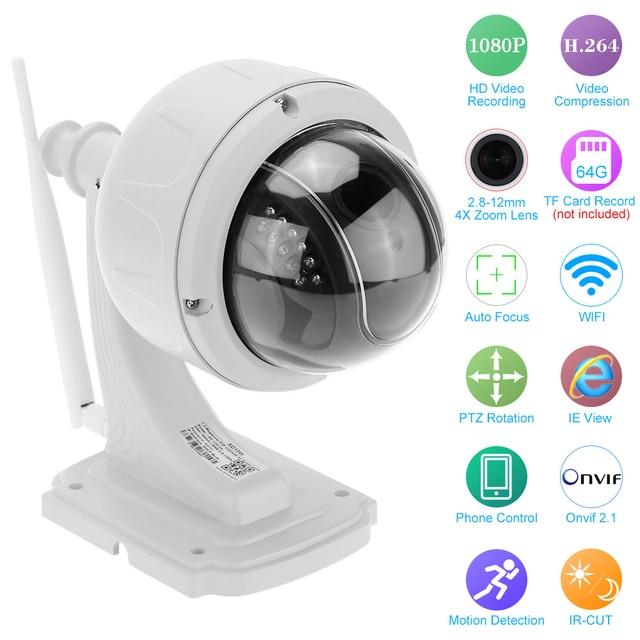 KKmoon 1080P Wireless WiFi IP Camera Outdoor PTZ 2.8 12mm Auto focus Waterproof H.264 HD CCTV Security Camera Wifi Night Vision