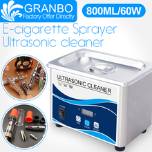 Ultrasonic Electronic Cigarette Cleaner 800ML Bath 60W 40KHz Digital Degas Wash for E-cig Oil tank Sprayer Atomizer mod box kit e cigarette vape support 18650 battery not included electronic cigarette box mod e cigarettes fit atlantis tank vs sucks cf mo